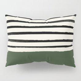 Forest Green x Stripes Pillow Sham