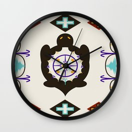 She Weaves Her Life Wall Clock
