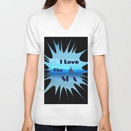 SEA LOVE Unisex V-Neck