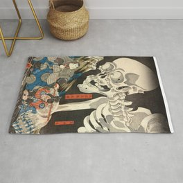 Utagawa Kuniyoshi - Takiyasha the Witch and the Skeleton Spectre Rug