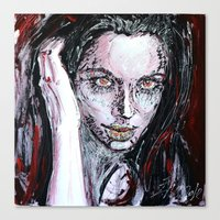 angelina jolie Canvas Prints featuring Angelina Jolie by lisylight