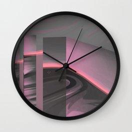 Claraboya, Geodesic Habitacle, Pink neon room Wall Clock