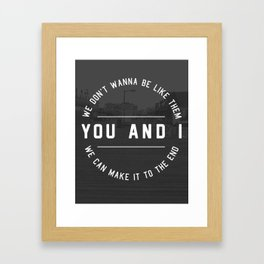 You & I Framed Art Print