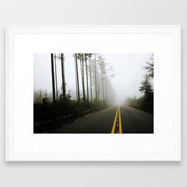 A Silent Road Framed Art Print
