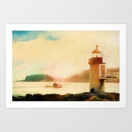 A Day In Maine Art Print