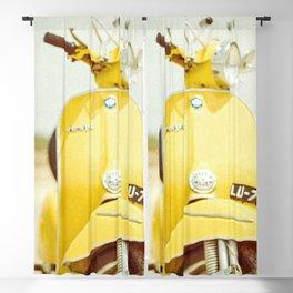 Yellow Scooter #vespaprint #italyphoto #travel #modstyle #yellowmustard Blackout Curtain