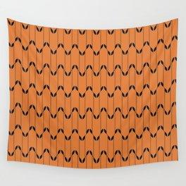 Geometrical Leaves GoldBlack Wall Tapestry