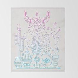 Santa Fe Garden – Rose Quartz & Serenity Throw Blanket