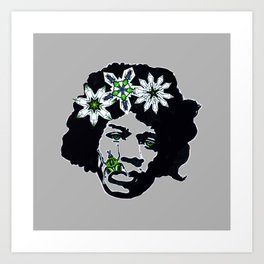 jimi buggin' for another piece of paper Art Print