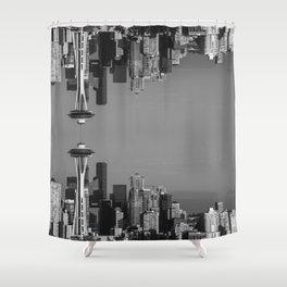 Seattle Upside Down Shower Curtain