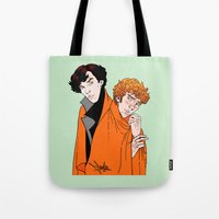 blankets Tote Bags featuring Crash Landings and Shock Blankets by TheScienceofDepiction