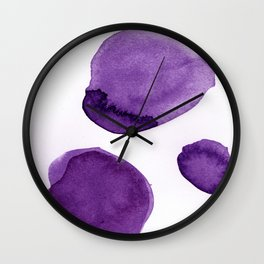 Ultra Violet Boulders Abstract Art Wall Clock