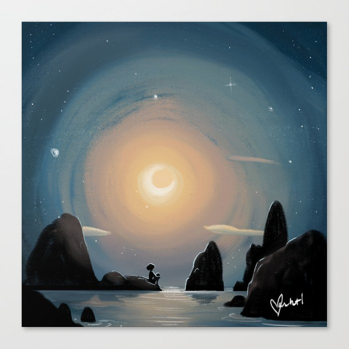 Crescent Moon Leinwanddruck