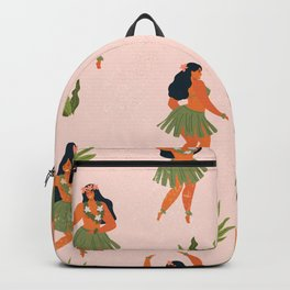 Hawaiian hula dancers young pretty woman  Backpack