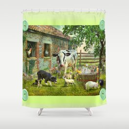 Barnyard Chatter Shower Curtain