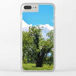 Country Scenery Clear iPhone Case