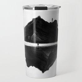 Black and White Isolation Island Travel Mug
