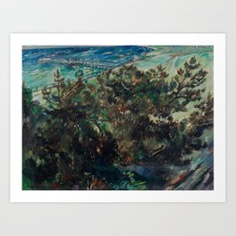 LOVIS CORINTH (Tapes 1858-1925 Zandvoort) Coast at Nienhagen. 1917th Art Print