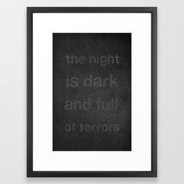"""Night Terrors"" Print Framed Art Print"