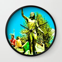 Powerful God cares for ill. Wall Clock