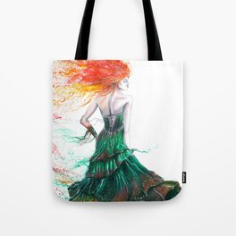 Lady Fire  Tote Bag