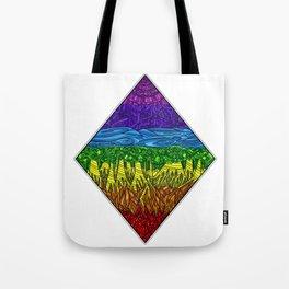Geometric Rainbow Seven Chakras Tote Bag