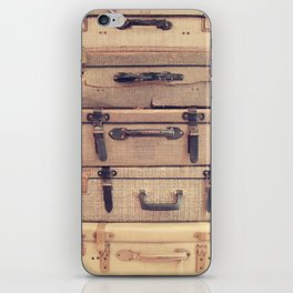 Stack of old suitcase iPhone Skin