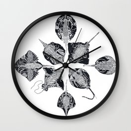The Stingray and the Beetle Wall Clock