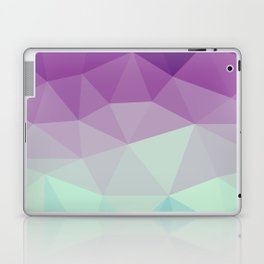 violet and blue polygon Laptop & iPad Skin