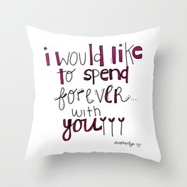 Forever With You.  Throw Pillow