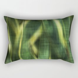 Green Palm Leaves Impression II Rectangular Pillow