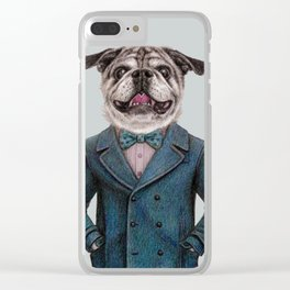dog portrait Clear iPhone Case