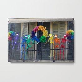 LGBTQ+ Skeletons Partying Metal Print