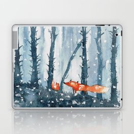 Foxes in forest Laptop & iPad Skin