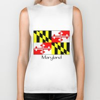 maryland Biker Tanks featuring Maryland by rita rose