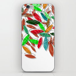 colored leaves iPhone Skin