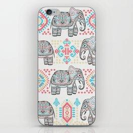 Elephant Parade,  Boho Pattern iPhone Skin
