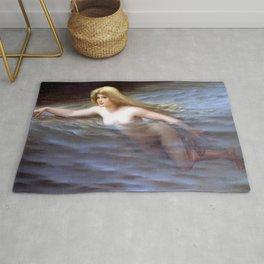 "Luis Ricardo Falero ""Sea nymph or Nymphe"" Rug"