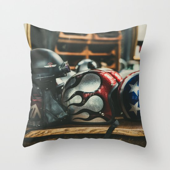 Helmets Throw Pillow