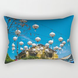 Lanterns in Hoi An, Vietnam Rectangular Pillow