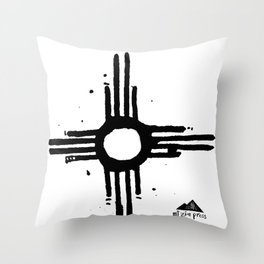 New Mexican Flag Throw Pillow