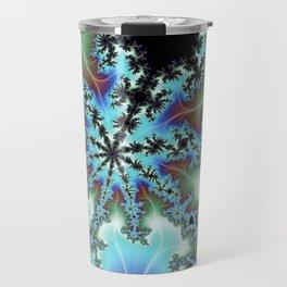 Blue Crab Fractal Travel Mug