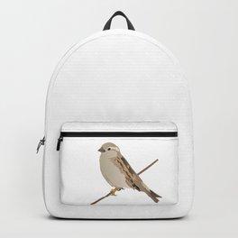 House Sparrow Bird on a Twig Backpack