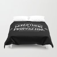 propaganda Duvet Covers featuring Department of Propaganda by Department of Propaganda