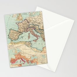 Vintage Map of The Roman Empire (1889) Stationery Cards
