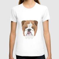 english bulldog T-shirts featuring English bulldog by Hedera