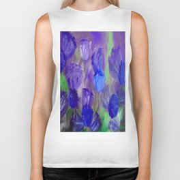 Breaking Dawn in Shades of Deep Blue and Purple Biker Tank