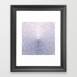 Pale Flower Mandala Framed Art Print
