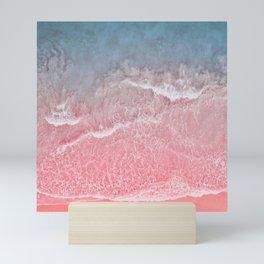 Coral And Blue Ocean And Seashore Mini Art Print