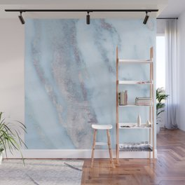 Light Blue Gray Marble Wall Mural